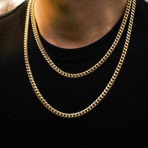 18k Yellow Gold Miami Cuban Link Chain (6mm) - The Jewelry Plug