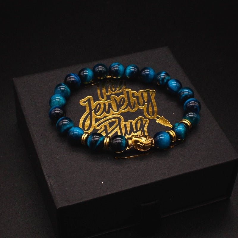 Blue Buddha Bead Bracelet - The Jewelry Pluig
