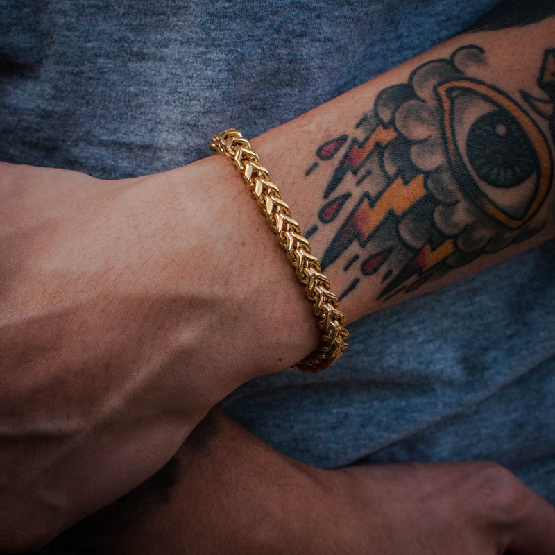 Franco Bracelet in Yellow Gold - The Jewelry Plug