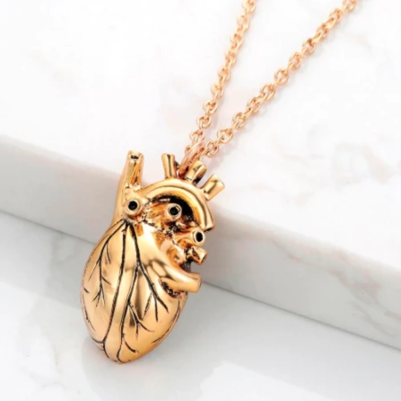 18k Yellow Gold - Heart of Gold Necklace - The Jewelry Plug