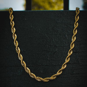 18k Yellow Gold Thick Rope Chain (8mm) - The Jewelry Plug