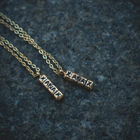 18k Gold Xanax Bar Pendant Necklace - The Jewelry Plug
