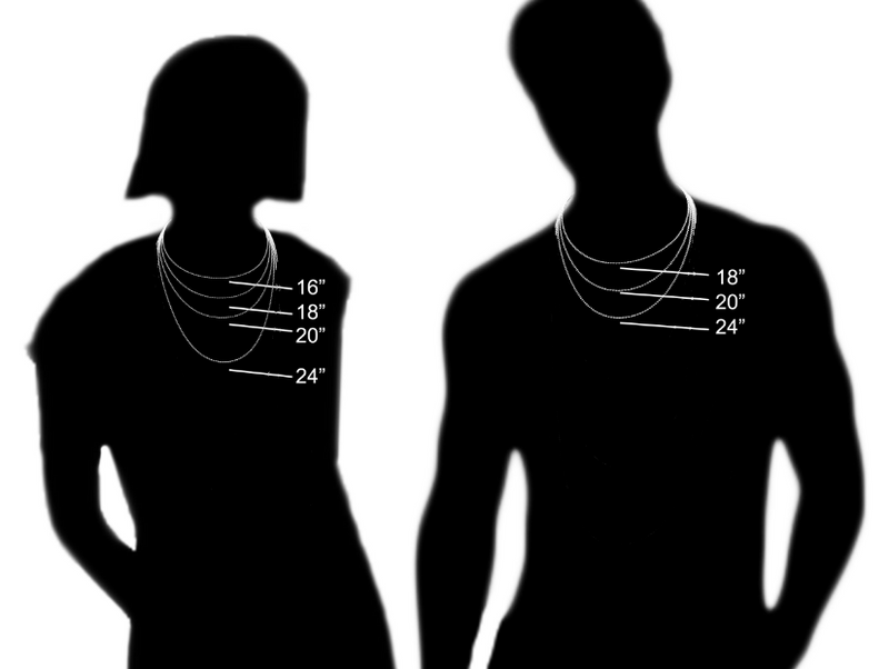 The Jewelry Plug Necklace/Chain Size Chart Fitment
