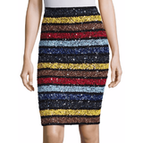 Ramos Sequin Striped Skirt