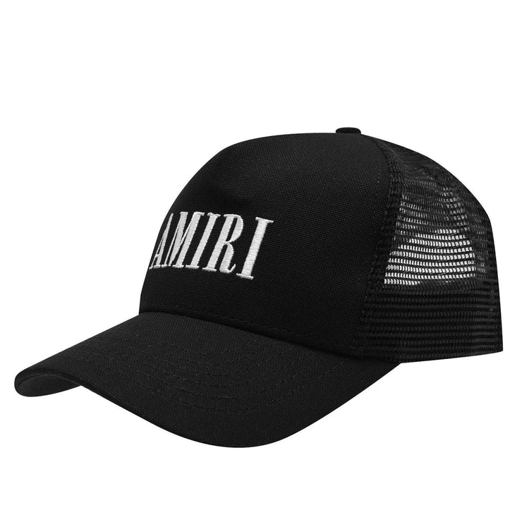 Amiri Embroidered Logo Black Trucker Cap Cap AMIRI