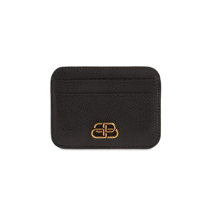 Balenciaga Black Leather Card Holder - DANYOUNGUK