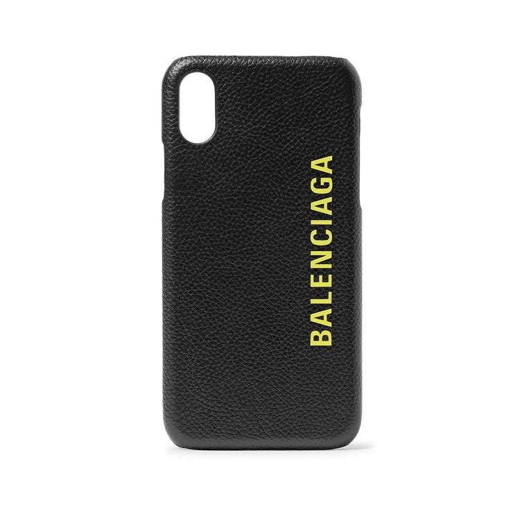 Balenciaga Logo Leather iPhone X Case - DANYOUNGUK