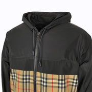 Burberry Black Check Hooded Jacket - DANYOUNGUK