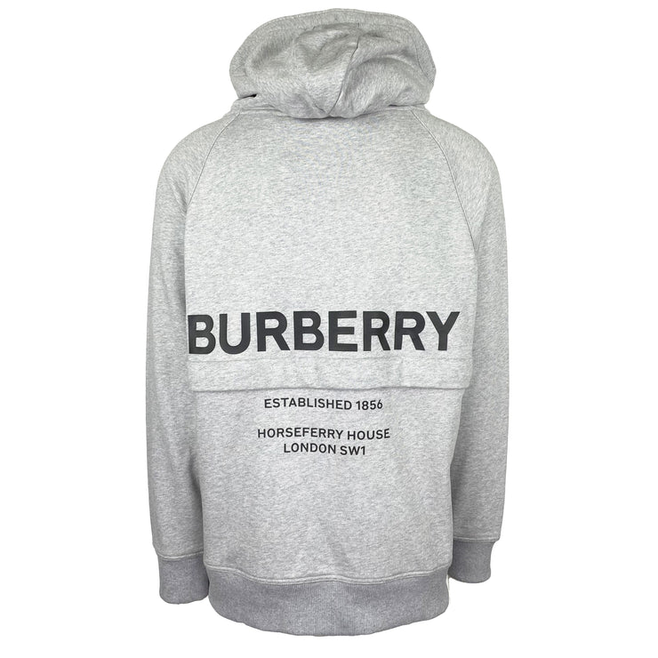 Burberry Grey Oversized Archford Zip Up Hoodie - DANYOUNGUK