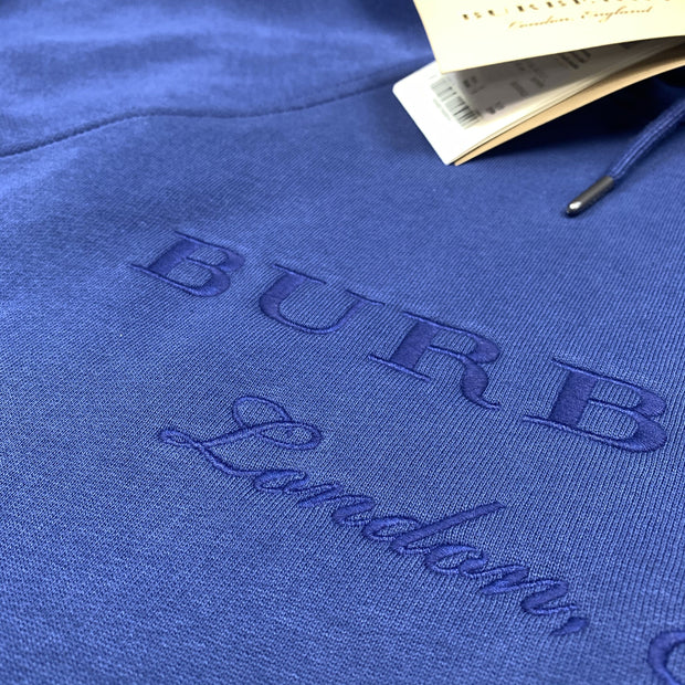 Burberry London Blue Embroidered Hoodie Hoodie Burberry
