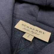 Burberry London Navy Embroidered Hoodie Hoodie Burberry