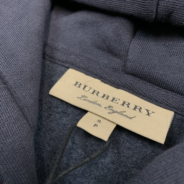 Burberry London Navy Embroidered Hoodie - DANYOUNGUK