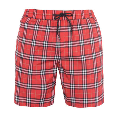 Burberry Red Vintage Check Swimshorts Swimwear Burberry