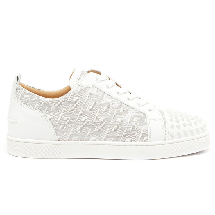 Christian Louboutin Louis Junior Spike Monogram Trainers - DANYOUNGUK