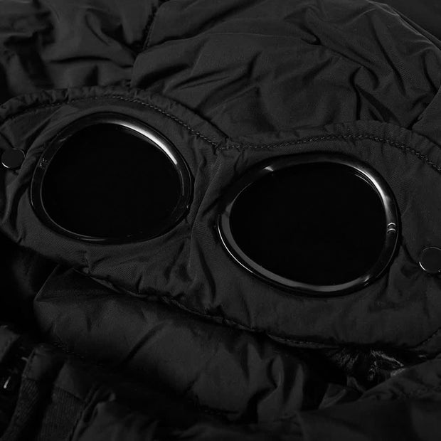 CP Company Black Recycled Down Jacket Coat CP Company