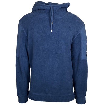 CP Company Blue Fleece Arm Viewer Hoodie - DANYOUNGUK