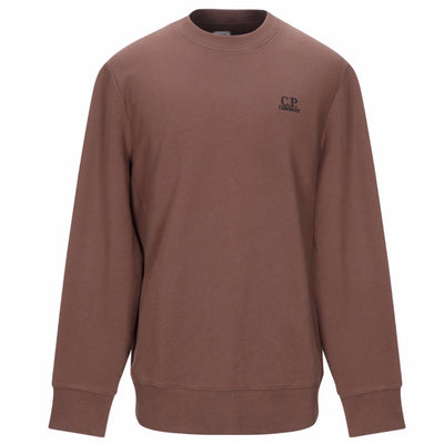 CP Company Brown Embroidered Crewneck - DANYOUNGUK