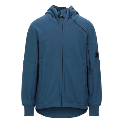 CP Company Raised Fleece Double Zip Lens Hoodie - DANYOUNGUK
