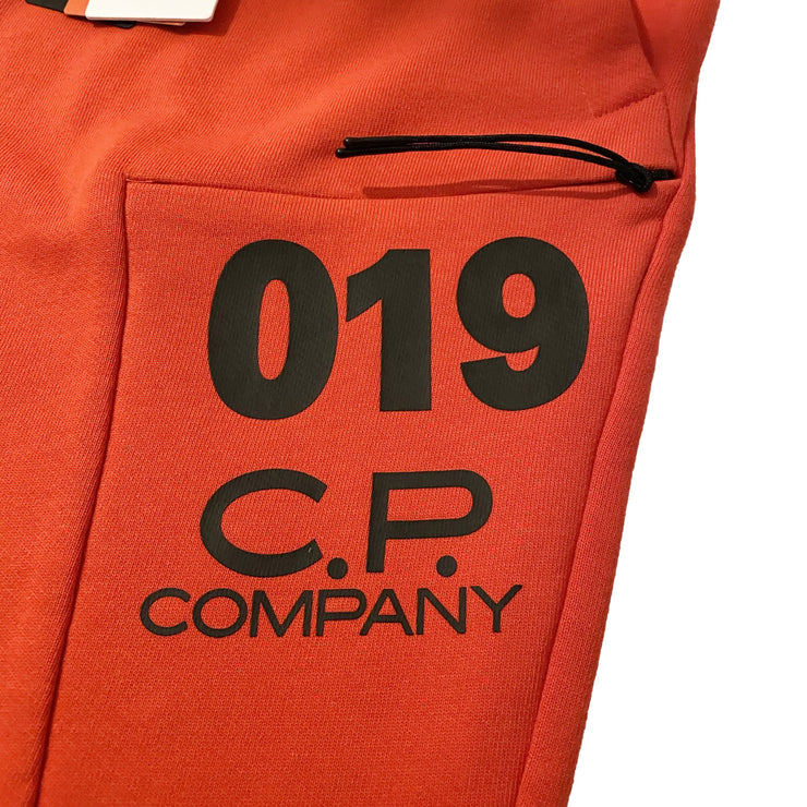 CP Company Red Cuffed Sweatpants - DANYOUNGUK