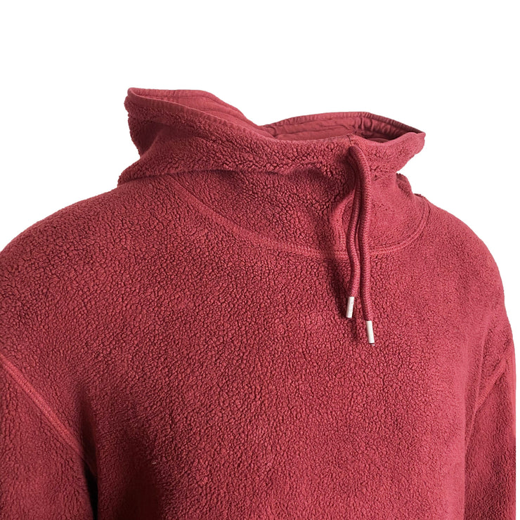 CP Company Red Fleece Arm Viewer Hoodie - DANYOUNGUK