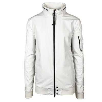 CP Company White Concealed Hood Soft Shell - DANYOUNGUK