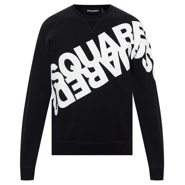 DSQUARED2 Black Logo Printed Sweatshirt Sweatshirt DSQUARED2