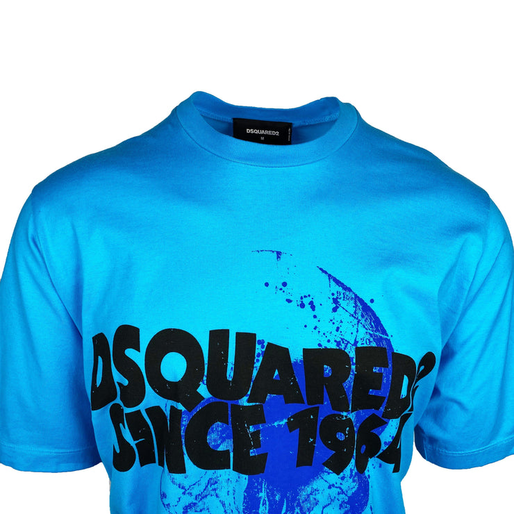 DSQUARED2 Oversized Blue Since 1964 T-Shirt - DANYOUNGUK