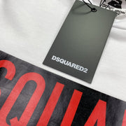 DSQUARED2 White Box Logo T-Shirt - DANYOUNGUK