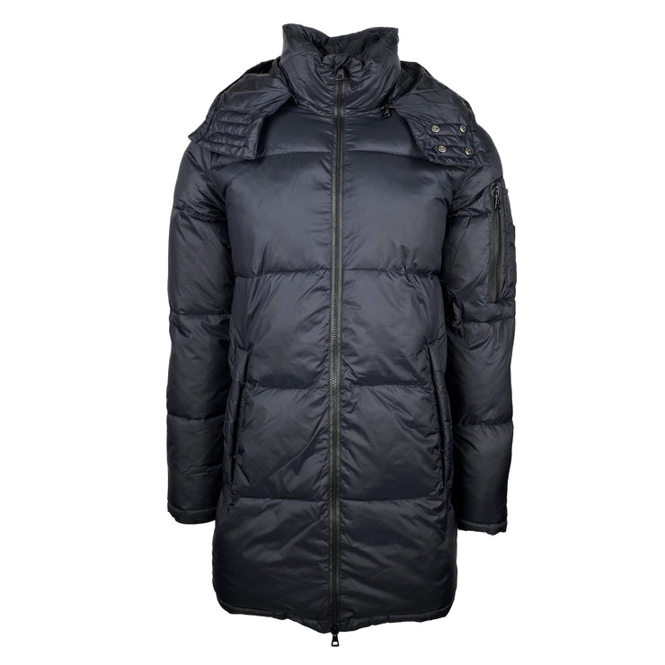Emporio Armani Black Hooded Mountain Down Parka - DANYOUNGUK