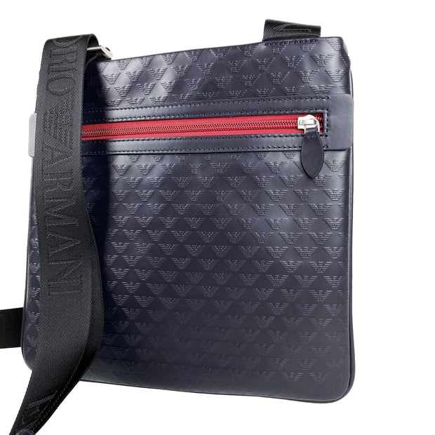 Emporio Armani Dark Navy Embossed Messenger Bag - DANYOUNGUK
