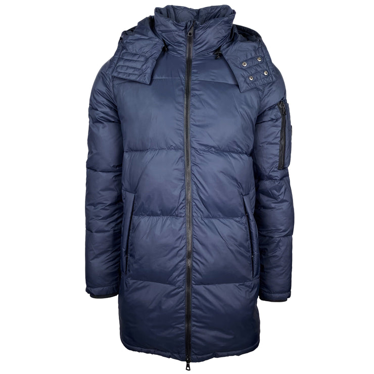 Emporio Armani Navy Hooded Mountain Down Parka - DANYOUNGUK