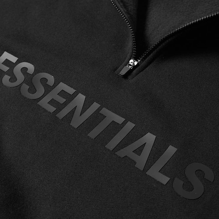 ESSENTIALS x FOG Black Half Zip - DANYOUNGUK