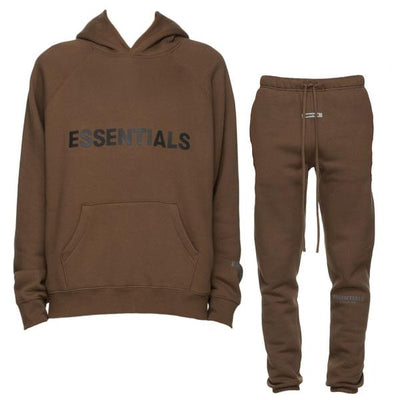 ESSENTIALS x FOG Brown Full Tracksuit - DANYOUNGUK