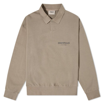 Fear of God ESSENTIALS Holiday Long Sleeve Polo Polo Shirt Essentials