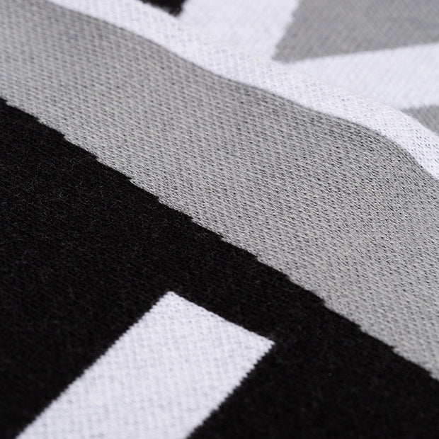 Givenchy Black & Grey Logo Team Scarf - DANYOUNGUK