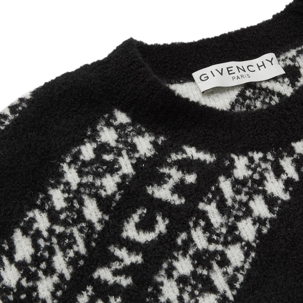 Givenchy Black Logo Wool Blend Knit - DANYOUNGUK