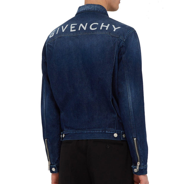 Givenchy Logo Print Denim Jacket Jacket Givenchy