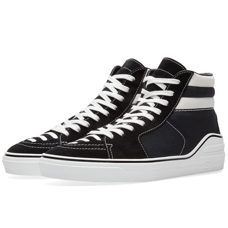 Givenchy Men's Black George V Suede & Canvas Sneakers - DANYOUNGUK