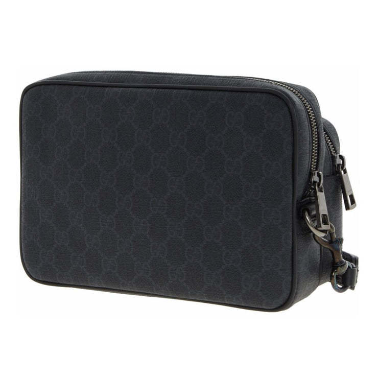 Gucci Black GG Monogram Twin Carry Pouch - DANYOUNGUK