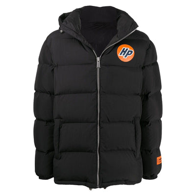 Heron Preston Black Logo Down Jacket Coat Heron Preston
