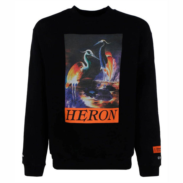 Heron Preston Black Logo Sweatshirt Sweatshirt Heron Preston