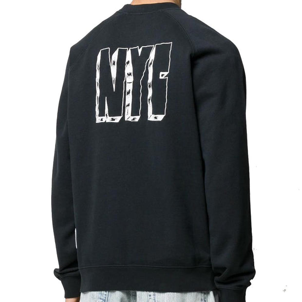 Heron Preston Black Spray Sweatshirt Sweatshirt Heron Preston