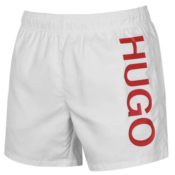 Hugo Boss White Logo Swimshorts Swimwear Hugo Boss