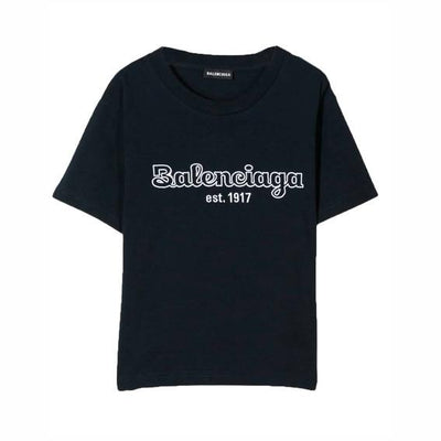 Kids Balenciaga Embroidered Logo T-Shirt Kids T-Shirt Balenciaga