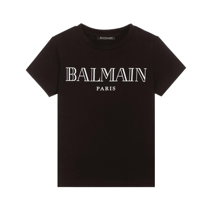 Kids Balmain Paris Black T-Shirt Kids T-Shirt Balmain