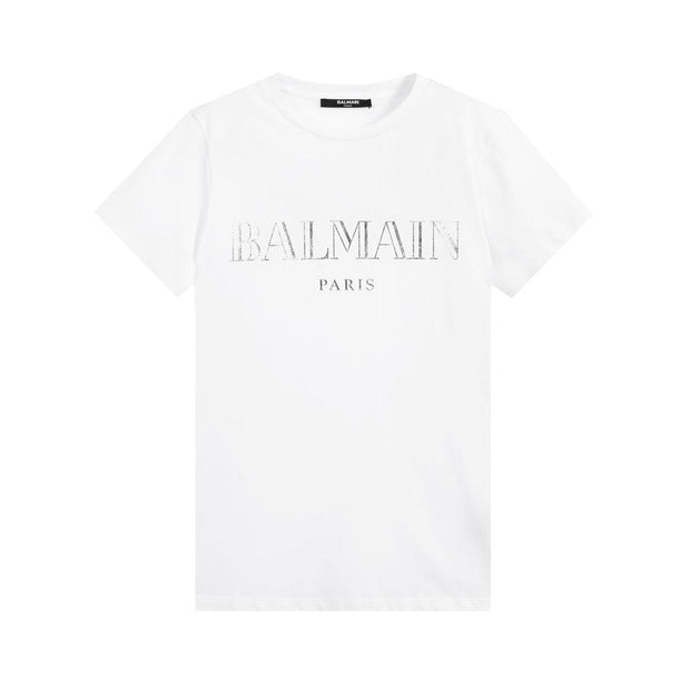Kids Balmain Paris White T-Shirt Kids T-Shirt Balmain