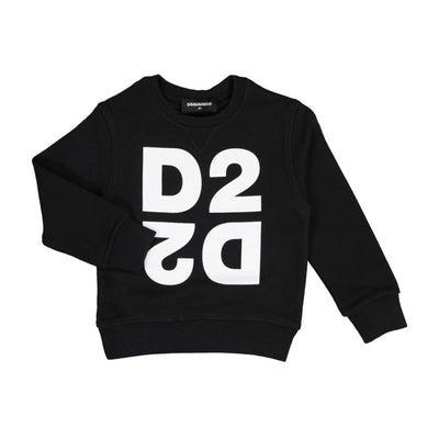Kids Black DSQUARED2 Sweatshirt Kids Sweatshirt DSQUARED2