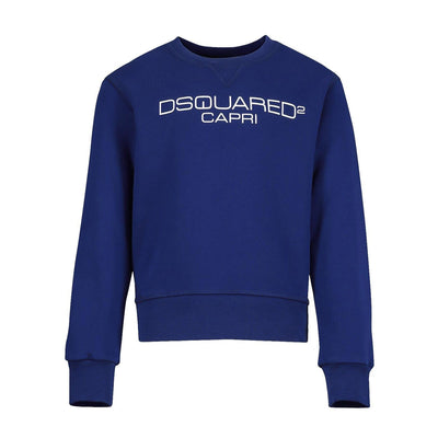 Kids Blue DSQUARED2 Capri Sweatshirt Kids Sweatshirt DSQUARED2