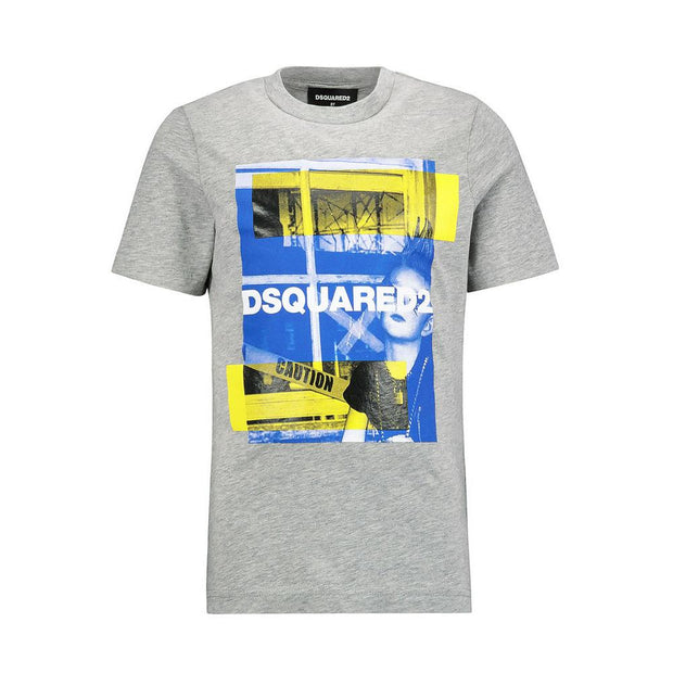 Kids Grey DSQUARED2 Graphic T-Shirt Kids T-Shirt DSQUARED2