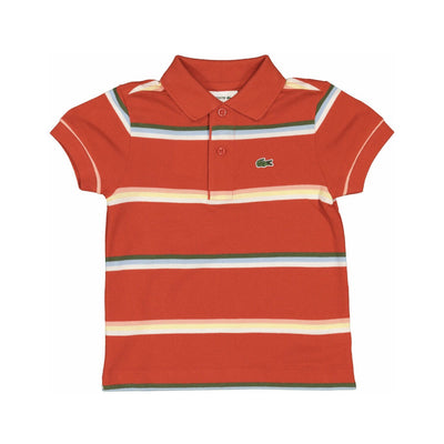 Kids Lacoste Orange Polo Kids T-Shirt Lacoste